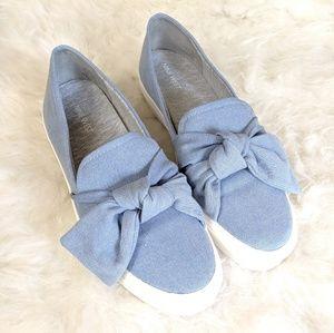 Nine West Bow Slip On Flat Shoes - Size 9.5